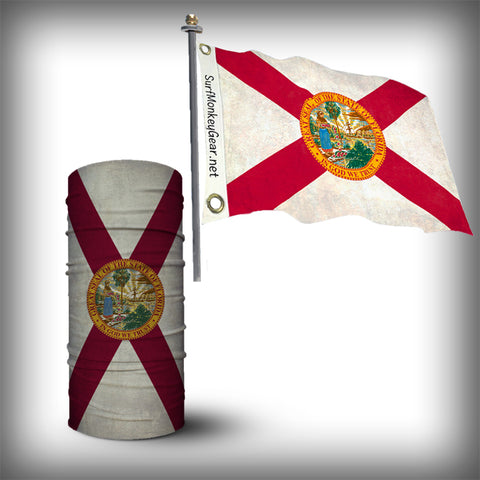 Florida Monk Wrap Neck Gaiter and Florida 12x18 Flag Combo