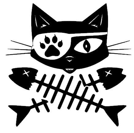 Cat Pirate Decal Sticker / Cat Decal - SurfmonkeyGear