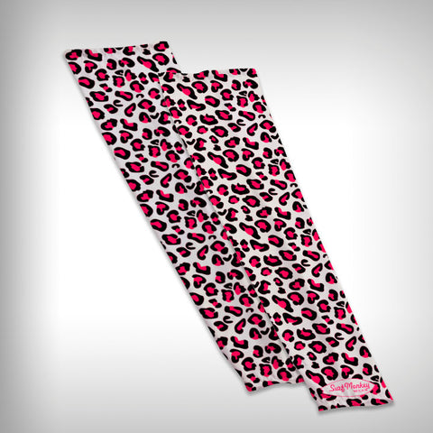 Compression Sleeve Arm Sleeve - Pink Leopard - SurfmonkeyGear  - 1