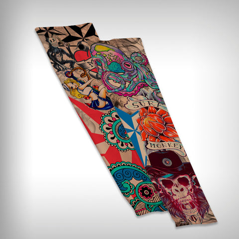 Compression Sleeve Arm Sleeve - Tattoo - SurfmonkeyGear  - 1