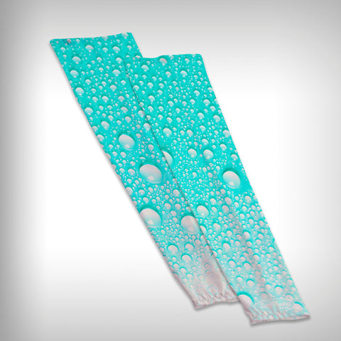 Compression Sleeve Arm Sleeve - Water drops - SurfmonkeyGear  - 1