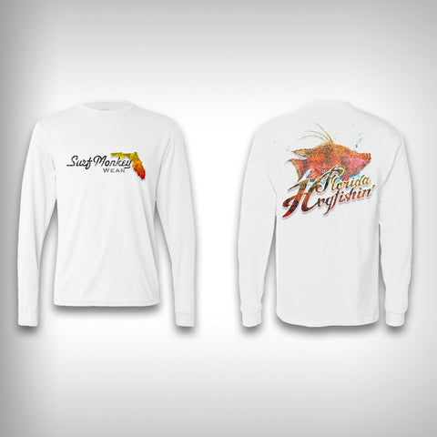 Hog Fishin' Florida - Performance Shirt - Fishing Shirt - Hog Fish - SurfmonkeyGear  - 1