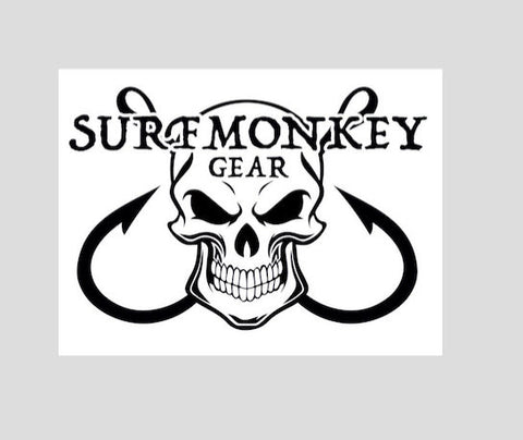 Surfmonkey Gear Decal Sticker - Skull Hook - SurfmonkeyGear