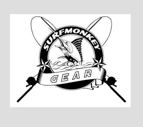Surfmonkey Gear Decal Sticker - Rods - SurfmonkeyGear