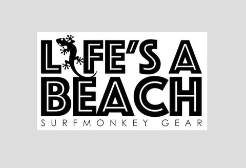 Surfmonkey Gear Decal Sticker - Lifes a Beach - SurfmonkeyGear