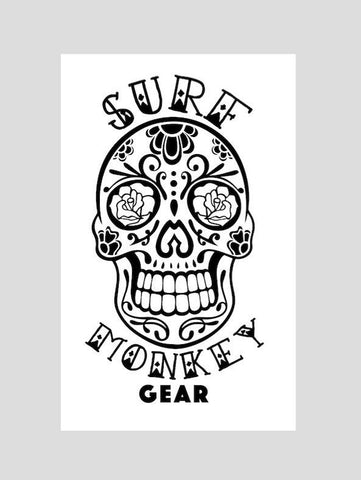 Sugar Skull Decal Sticker Outdoor Vinyl Surfmonkey - SurfmonkeyGear