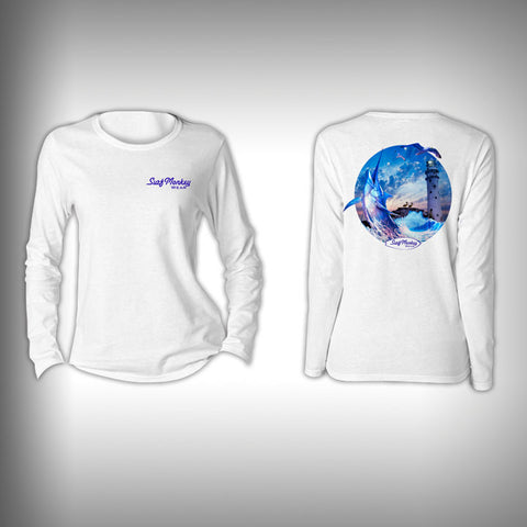 Swordfish - Womens Performance Shirt - Fishing Shirt - SurfmonkeyGear  - 1