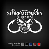 Performance Unisex Tshirt - Moisture Wicking, Odor Resistant - Skull and hooks - SurfmonkeyGear  - 2