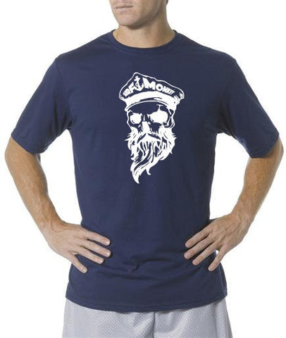 Performance T-shirt Moisture Wicking, Odor Resistant t-shirt - Ghost skull - SurfmonkeyGear  - 1