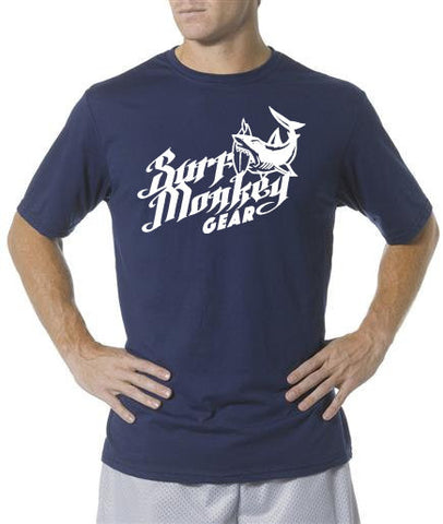 Performance T-shirt Moisture Wicking, Odor Resistant t-shirt - Shark Bite - SurfmonkeyGear  - 1