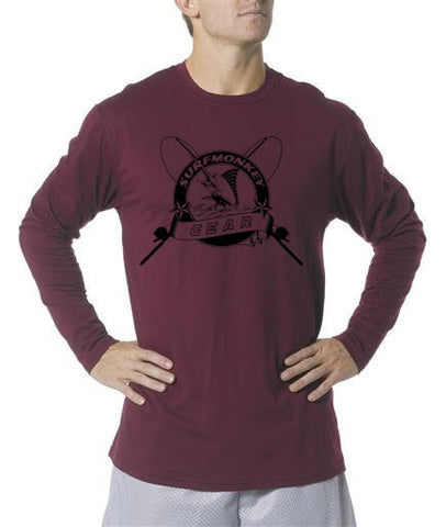 Long Sleeve Unisex Performance Tri-Blend Shirt - Rod and Reel - SurfmonkeyGear  - 1