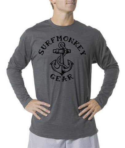 Long Sleeve Unisex Performance Tri-Blend Shirt - Anchor - SurfmonkeyGear  - 1