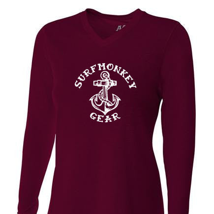 Womens Tri-blend Performance Shirt - Anchor - SurfmonkeyGear  - 1