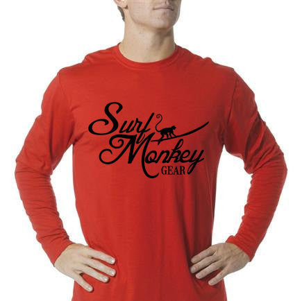Long Sleeve Unisex Performance Tri-Blend Shirt - Surf Monkey Gear Monkey - SurfmonkeyGear  - 1