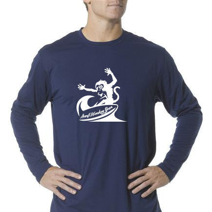 Long Sleeve Unisex Performance Tri-Blend Shirt - Crazy Monkey - SurfmonkeyGear  - 1