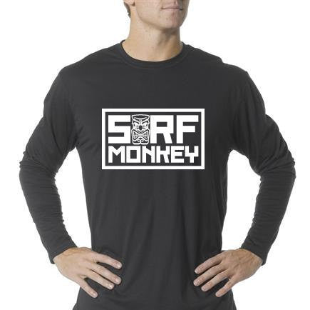Long Sleeve Unisex Performance Tri-Blend Shirt - Tiki - SurfmonkeyGear  - 1