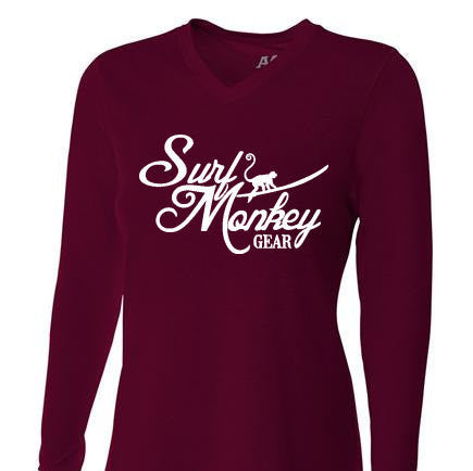 Womens Tri-blend Performance Shirt - Surf Monkey - SurfmonkeyGear  - 1