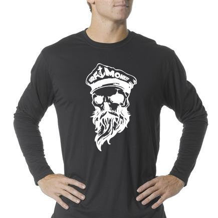 Long Sleeve Unisex Performance Tri-Blend Shirt - Ghost Skull - SurfmonkeyGear  - 1