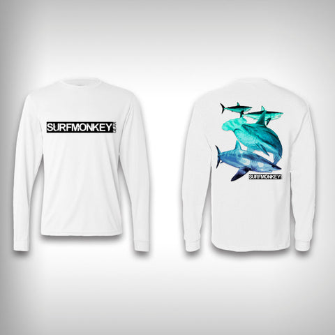 Shark Life - Performance Shirt - Fishing Shirt - SurfmonkeyGear  - 1