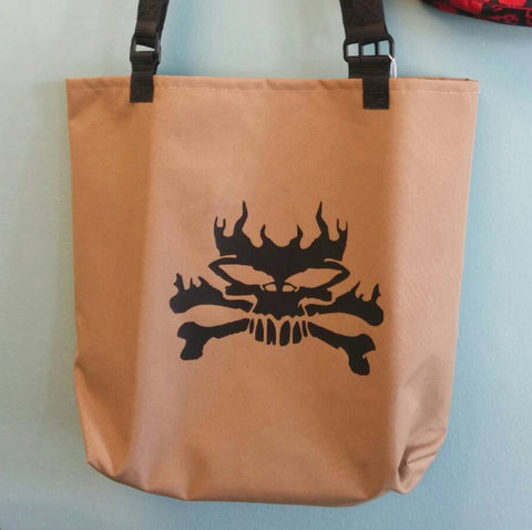 Tote Bag, Monogrammed, Personalized Gift Bag with Skull - SurfmonkeyGear