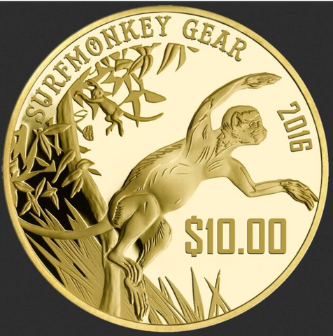 Monkey Money Gift Poker Chip - Gift Certificate - SurfmonkeyGear