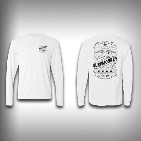 Retro Label - Solar Performance Long Sleeve Shirts - Fishing Shirt - SurfmonkeyGear