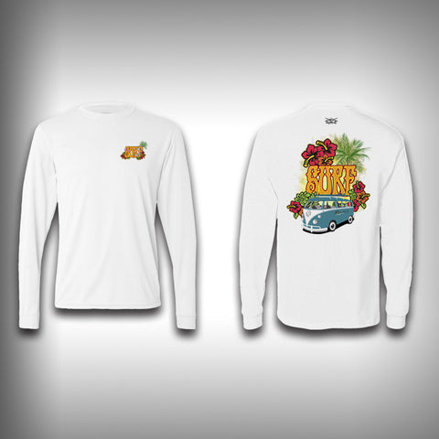Vintage Surfer - Solar Performance Long Sleeve Shirts - Fishing Shirt - SurfmonkeyGear