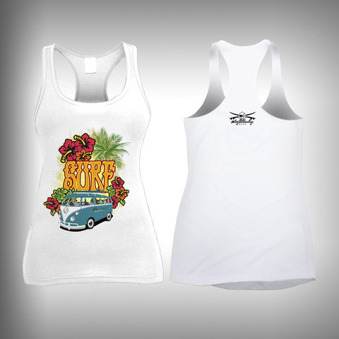 VW Vintage Surfer - Womens Tank Top - SurfmonkeyGear  - 1