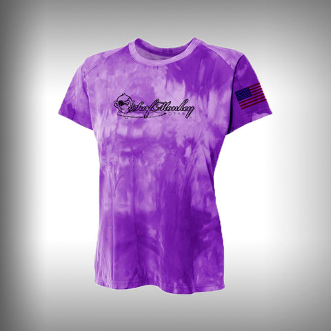 Women Space Dye Performance Short Sleeve