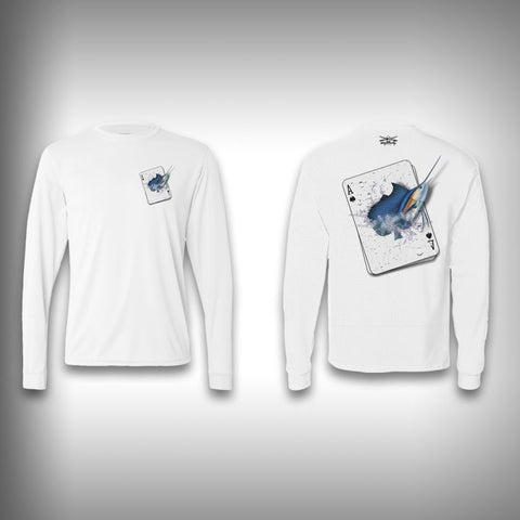 Ace of Spades Marlin - Poker - Solar Performance Long Sleeve Shirts - Fishing Shirt - SurfmonkeyGear
