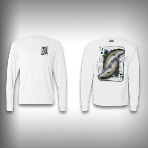 Jack of Spades Amberjack - Poker - Solar Performance Long Sleeve Shirts - Fishing Shirt - SurfmonkeyGear