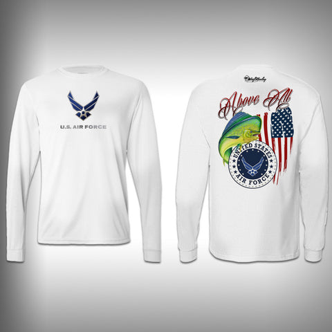 Armed Forced Air Force - Performance Shirt - Fishing Shirt - SurfmonkeyGear  - 1