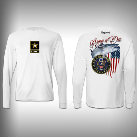 Armed Forces Army - Performance Shirt - Fishing Shirt - SurfmonkeyGear  - 1