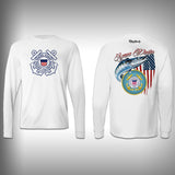 Armed Forces Coast Guard - Performance Shirt - Fishing Shirt - SurfmonkeyGear  - 1