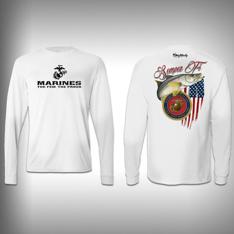 Armed Forces Marines - Performance Shirt - Fishing Shirt - SurfmonkeyGear  - 1
