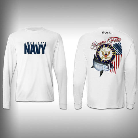 Armed Forces Navy - Performance Shirt - Fishing Shirt - SurfmonkeyGear  - 1