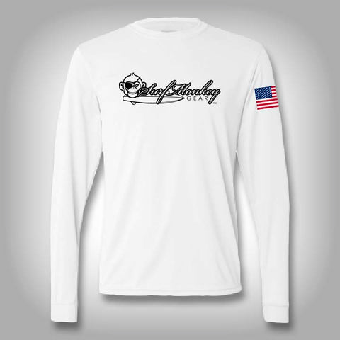 Surfmonkey Pro Performance Logo Long Sleeve Solar
