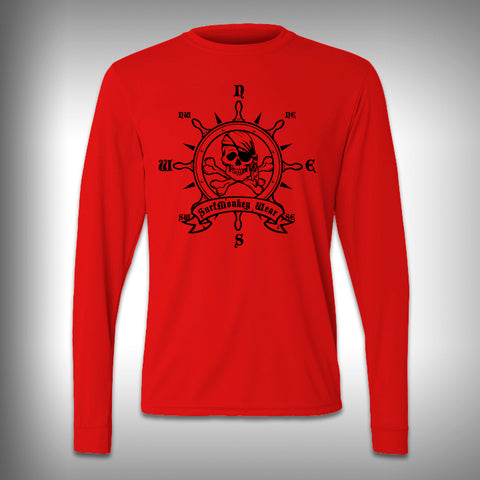 Pirate Wheel - Performance Shirt - Fishing Shirt - Decal Shirts