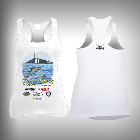 First Timers Fishing Team Womens Performance Tank Top