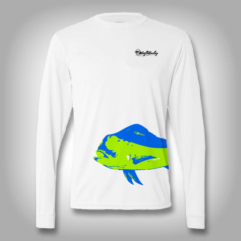 Fish Wrap Shirt -  Mahi - Performance Shirts - Fishing Shirt