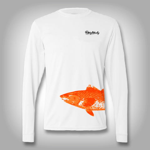 Fish Wrap Shirt -  Redfish - Performance Shirts - Fishing Shirt