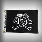 Dog Pirate Flag - Bull Dog Pirate Flag - SurfmonkeyGear  - 1