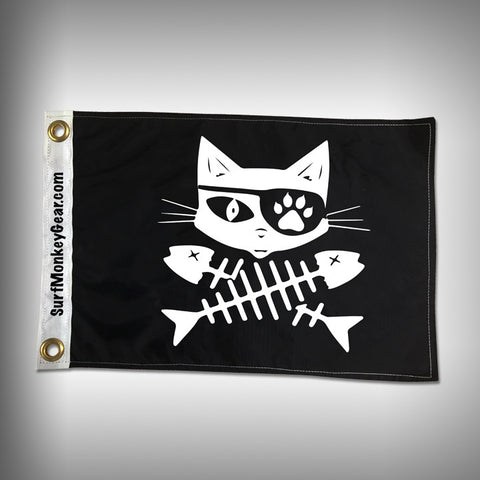 Cat Pirate Flag - Marine Flag - Boat Flag - SurfmonkeyGear  - 1