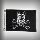 Dog Pirate Flag - German Shepard Pirate Flag - SurfmonkeyGear  - 1