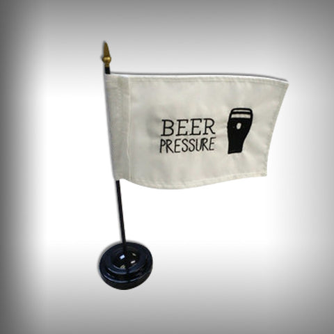 Mini Custom Embroidered Desktop Flag with Stand - SurfmonkeyGear  - 1