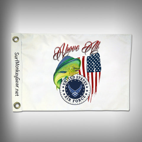 Custom Fishing Air Force Flag - Marine Grade - Boat Flag - SurfmonkeyGear