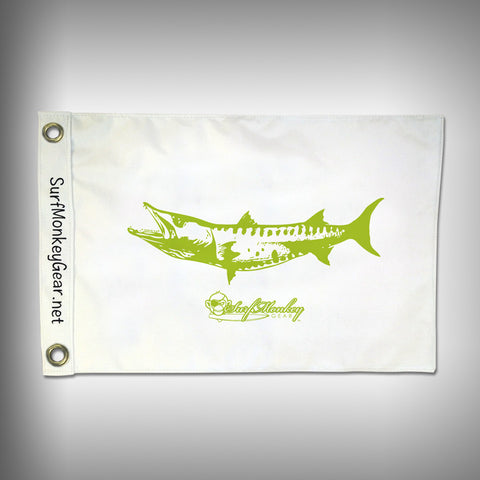 Fish Tournament Flag - Barracuda - Marine Grade - Boat Flag - SurfmonkeyGear