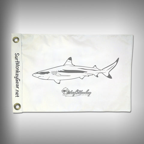 Fish Tournament Flag - Blacktip Shark - Marine Grade - Boat Flag - SurfmonkeyGear