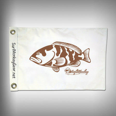 Fish Tournament Flag - Grouper - Marine Grade - Boat Flag - SurfmonkeyGear
