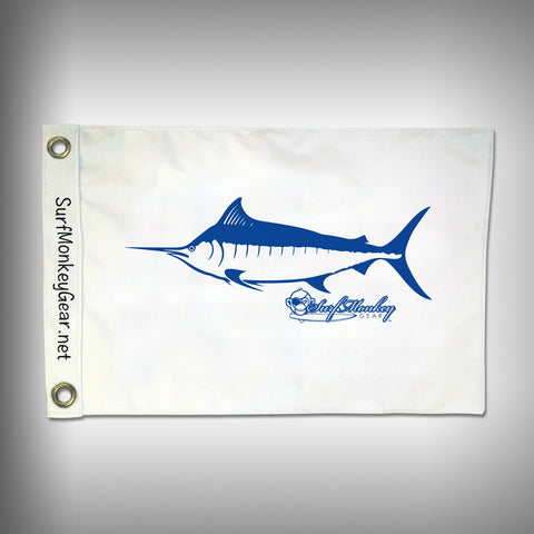 Fish Tournament Flag - Marlin - Marine Grade - Boat Flag - SurfmonkeyGear